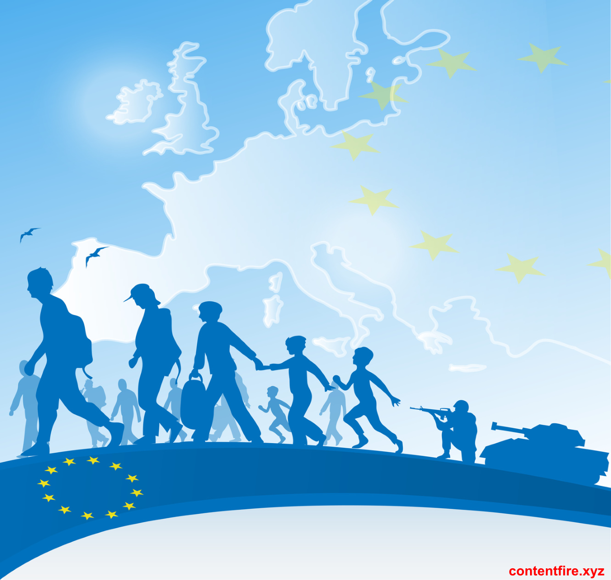 Recent migrations to Europe